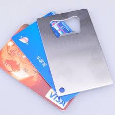 <b>100pcs</b>/<b>lot Personalized</b> Credit <b>Card</b> Sized Bottle Opener <b>Custom</b> ...