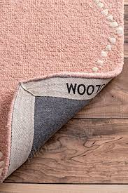 nuloom hand tufted wool dotted diamond trellis area rugs 4 x 6 baby pink b01hdwfnc2 jtumjcz1