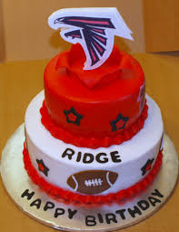 Designer Birthday Cakes In Atlanta Falcon Birthday Cake Football Themed Cakes Cake Cake