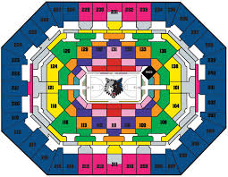 Timberwolves Seating Chart 2017 50 True To Life Timberwolves Seating Chart Rows