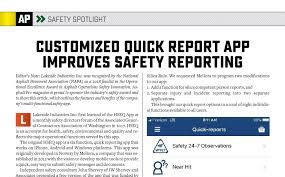 Asphaltpro Magazine Lakeside Industries Safety Reporting