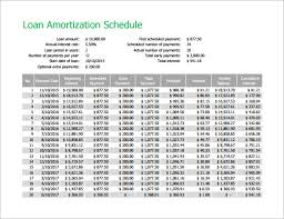 loan amortization calculator amortization schedule template 7 free sample example format