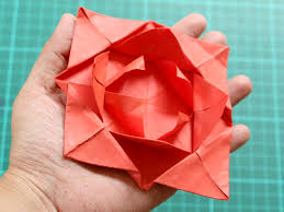Paper Origami Flower Making How To Fold A Simple Origami Flower 12 Steps With Pictures