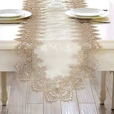 european table runner lace fabric