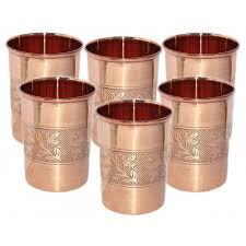 pure copper drink ware water glass tumbl