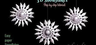 paper snowflakes 3d paper snowflake hildur k o