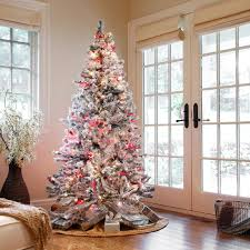 Flocked Christmas Tree Artificial Flocked Christmas Trees Gardens And Landscapings