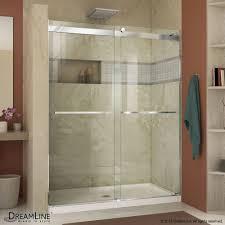 bathroom sliding glass shower doors. Essence 56-inch To 60-inch X 76-inch Semi-Frameless Sliding Bathroom Glass Shower Doors S