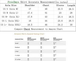 Asian Clothing Size Chart To Us Amazon Com Free2mys Mens Fleece Lined Plaid Shirt Us M