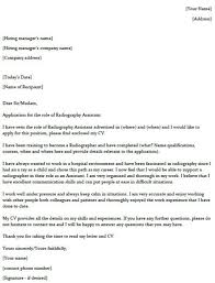 Cover Letter With Name Radiography Assistant Cover Letter Example Lettercv Com