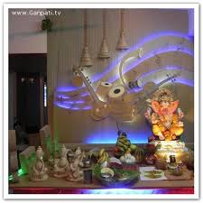 ganpati decoration ideas at home ganpati bappa morya pinterest