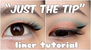 monolid asian eyes makeup tutorial just the tip liner