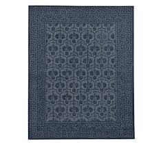 braylin tufted wool rug blue