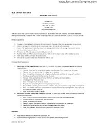 driver resume sample template updated resume for bus driver pre - Resume  For Bus Driver
