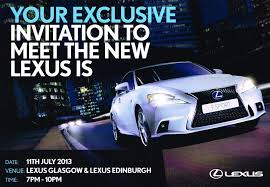 new car launches in july 2013New 2013 Lexus Is Launch Party At Lexus Glasgow  Lexus IS 300h