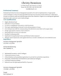 Inventory Control Resume Stunning Download Inventory Control Specialist Resume Sample DiplomaticRegatta