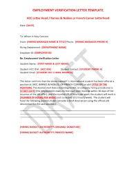 14 Employment Verification Letter Examples Pdf Doc
