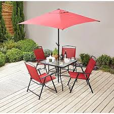 miami 6 piece patio set red home
