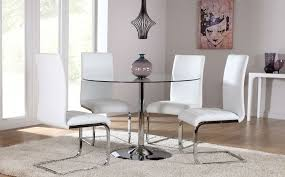 great round white dining table set white kitchen table set open plan dining room located beside