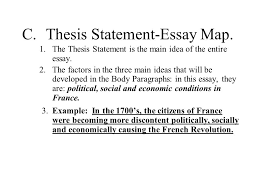 Essay Map Example The Six Paragraph Essay For Unit 2 Assessment The Main Parts