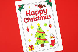 The ability to write a precisely and. Free Printable Christmas Cards To Colour Christmas Tree Crafts On Sea