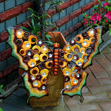 home garden ornament outdoor metal butterfly garden yark hanging wall art plaque ornament art house gardening on insect garden wall art with home garden ornament outdoor metal butterfly garden yark hanging