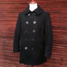 wool pea coat freewheelers 1913 us navy p coat made in japan melton wool