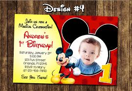 personalized mickey mouse 1st birthday invitations