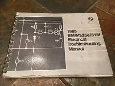 1985 bmw e30 325e 318i 325i electrical troubleshooting wiring diagram manual