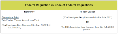 Citing A Quote Apa Fascinating Q How Do I Cite A Federal Regulation In The APA Style Answers