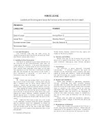 Room Rental Contract House Rental Agreement Form Free Tenant Contract Template