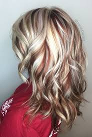 Red Hair Color With Highlights And
