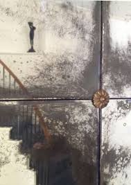 antiqued mirror tiles with small bevel