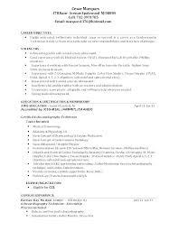 Nurse Technician Resumes Veterinarian Resume Template