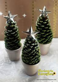 6 ToddlerFriendly Christmas Ornaments To MakePine Cone Christmas Tree Craft Project