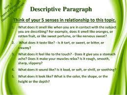 paragraph descriptive essay sample critique laughter cf 5 paragraph descriptive essay sample