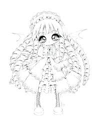 Chibi Coloring Pages Sad Anime Girl Coloring Pages Princess By On