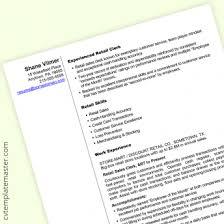 Cv Retail Cv Template 222 Free Professional Microsoft Word Cv