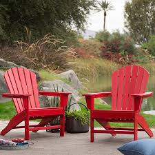 red recycled plastic adirondack chairs