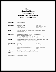 High School Resume Examples