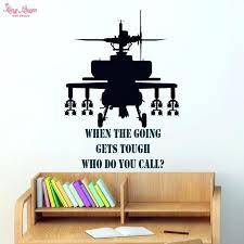 >bedroom wall art decor gunship wall sticker vinyl quotes decals teen  bedroom wall art decor gunship wall sticker vinyl quotes decals teen boys bedroom wall art decoration military fans children diy room decor wall art tumblr