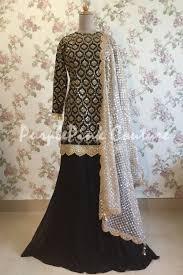 Black Sharara Designs Forever Trendy Black Sharara