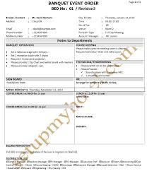 Banquet Checklist Template 100 Images Top 12 Banquet Resume
