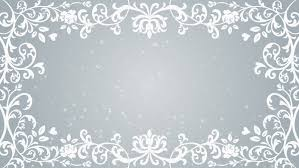 growing fl frame and glitter animation silver color