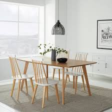 rectangular dining table on top of a rectangular rug
