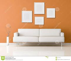 Orange Living Room White Sofa In A Orange Living Room Stock Photos Image 9317453