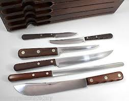 Vintage Rare Case Xx Cap 2318 Butcher Kitchen Knife Set Wood Case Kitchen Knives