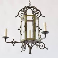 lantern style chandelier with restoration glass