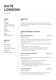 Dog Groomer Resume Example Pet Groomer Resume Example Resume Samples Pinterest 2