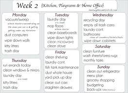 Cleaning Schedules Templates Weekly Office Schedule Template School